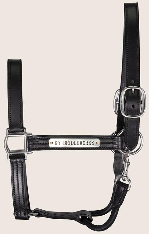 Black Leather Halter